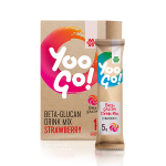 Yoo Go! Beta-glucan Drink Mix (Strawberry). Alcohol-free low-calorie drink with a sweetener, 70 g 500512